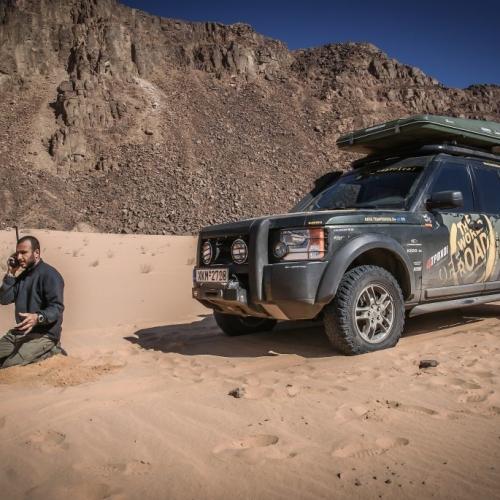 Radio reporting from Wadi Rum, Jordan