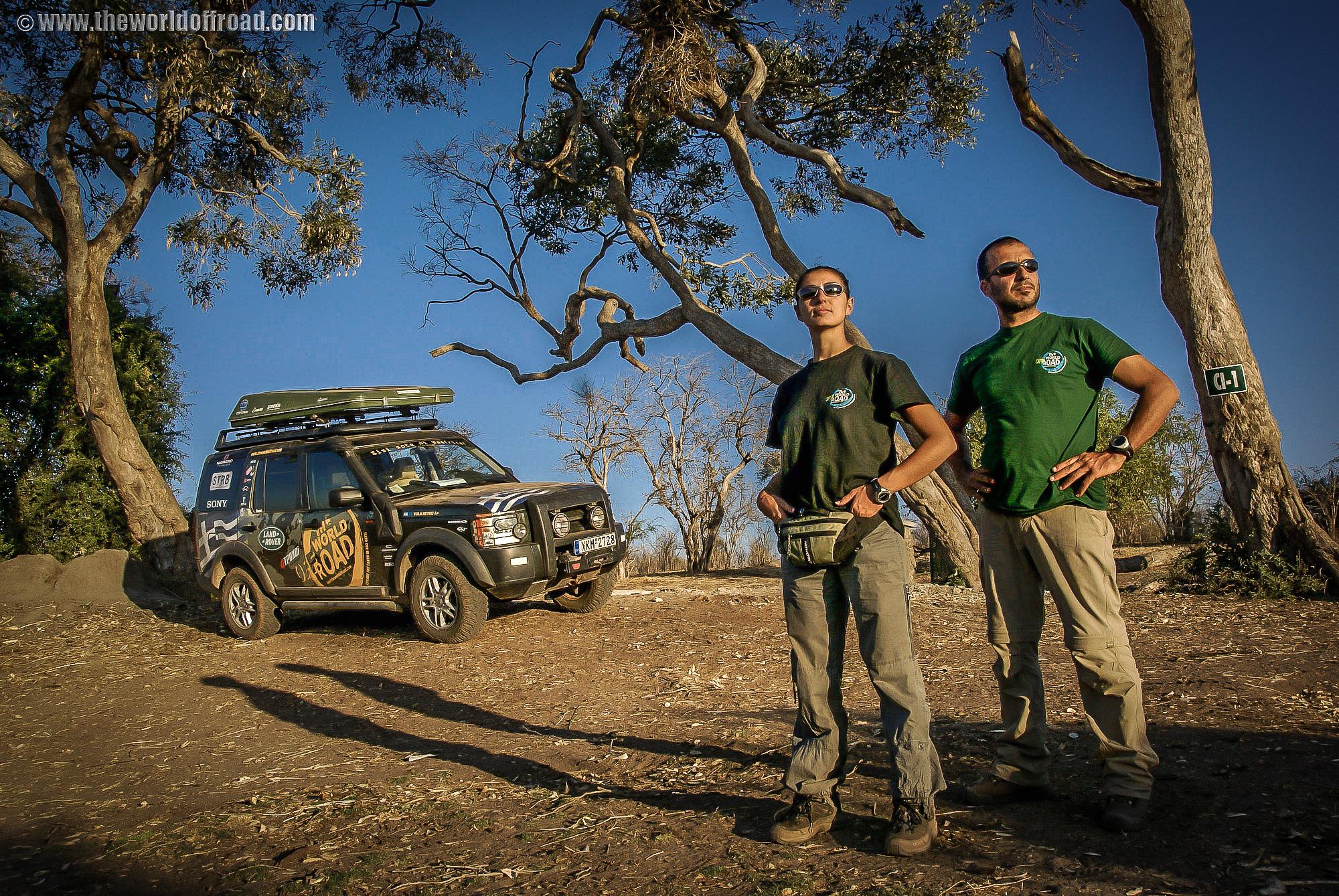 Camping at Chobe park, Botswana