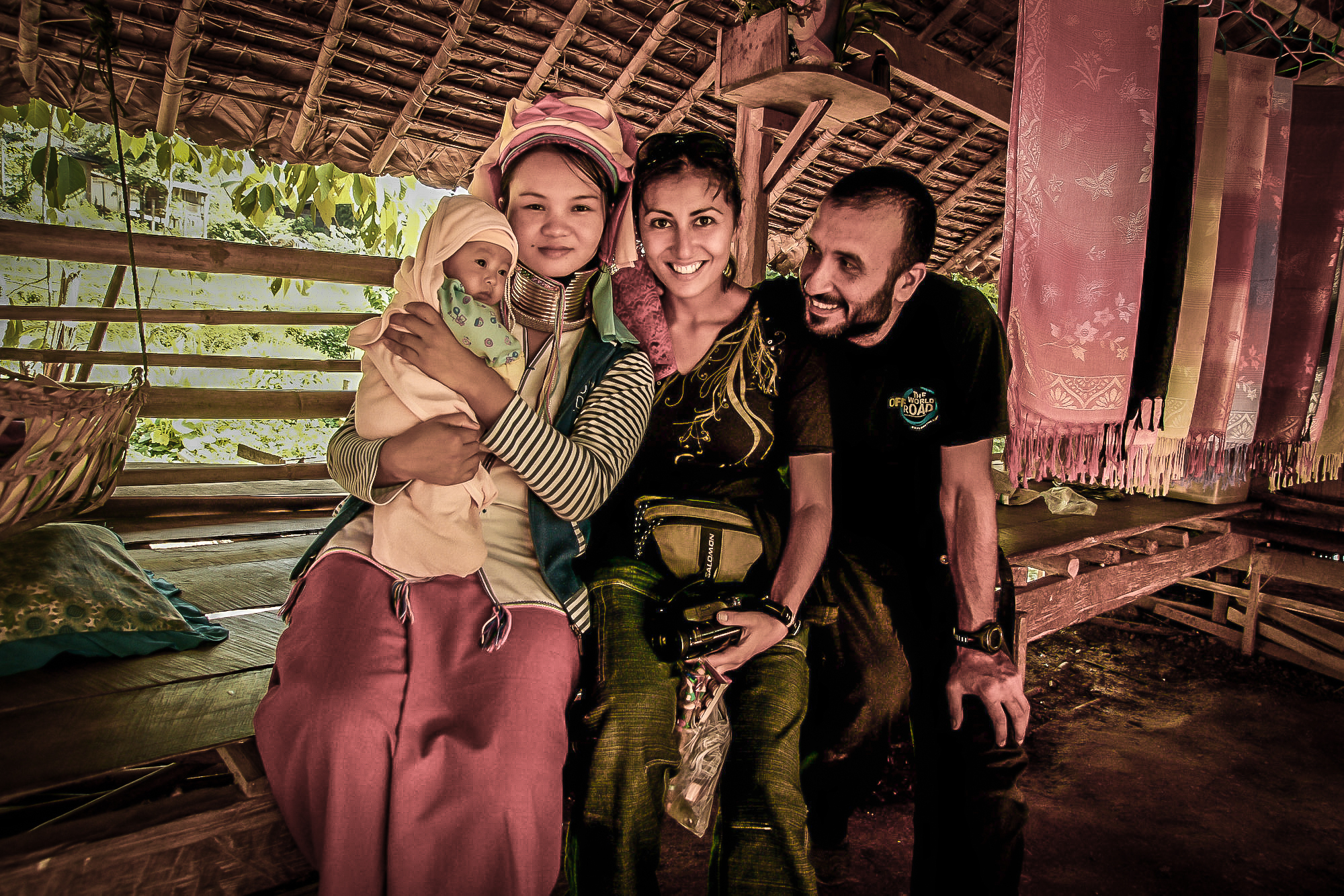 With a Karen mother and her newborn child in northern Thailand