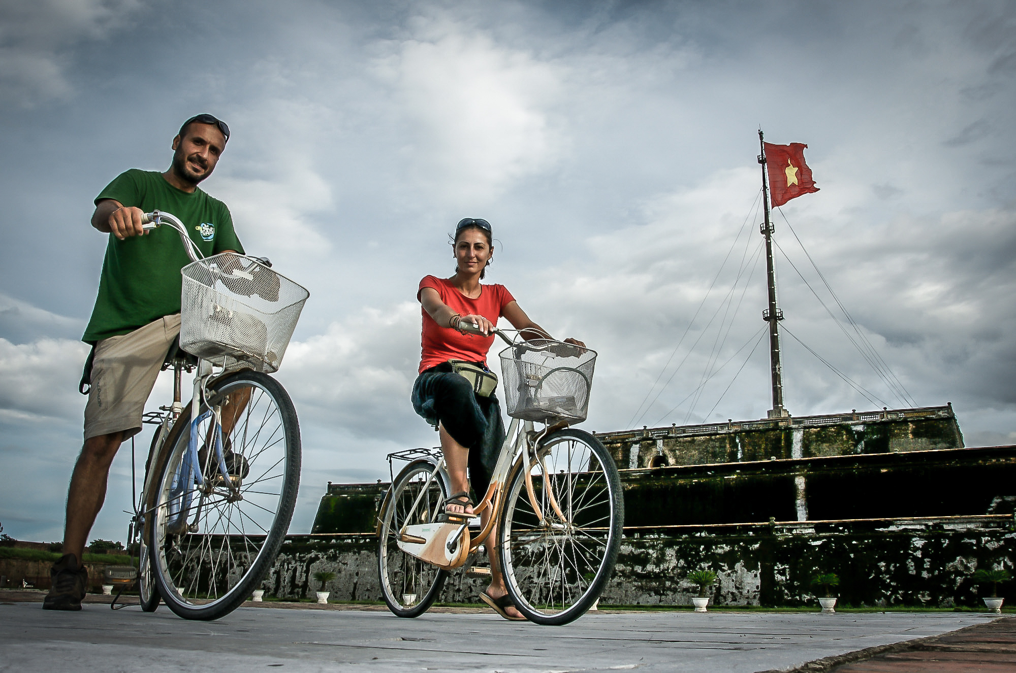 Cycling in Huè, the first capital of Vietnam
