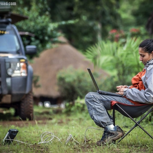 Blogging and camping in Cameroun