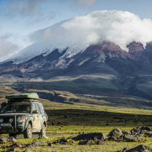 Under the Cotopaxi volcano, Ecuador