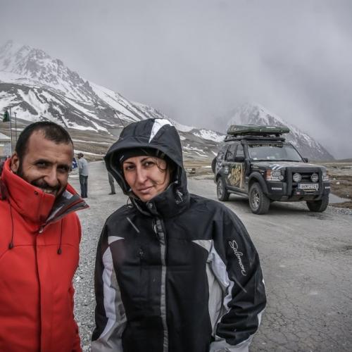 Khunjerab pass at the Pakistan - China border