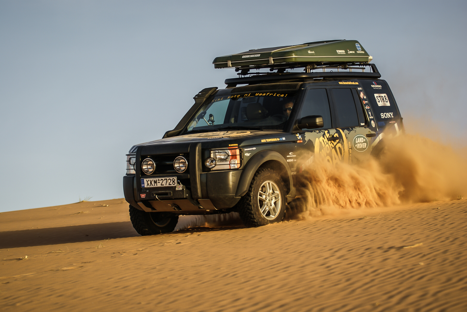 Hard driving on the dunes around Chinguetti, Mauritania