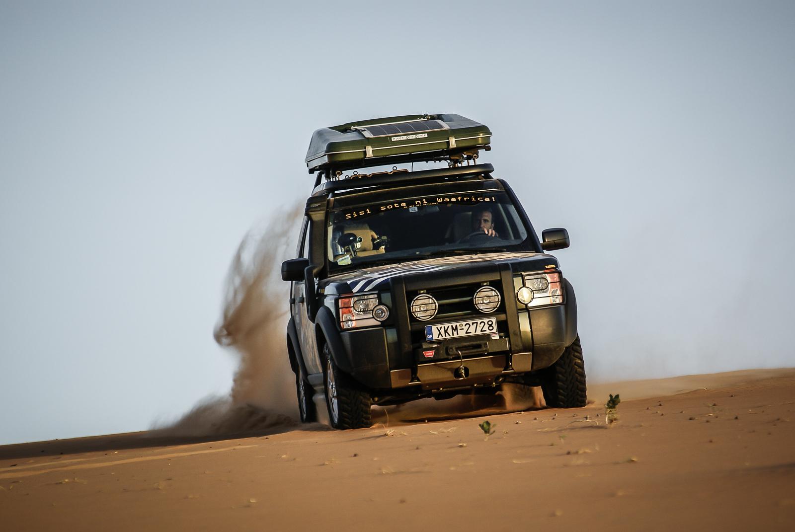 Hard driving on the dunes around Chinguetti, Mauritania