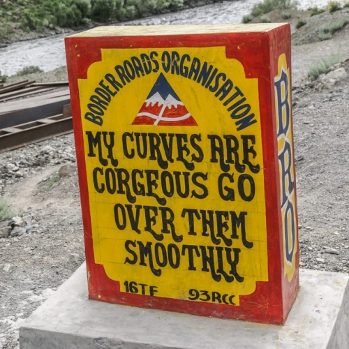 Hilarious road signs in Jammu and Kashmir regions, India