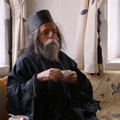 Wise orthodox monk in Santa Katerina monastery