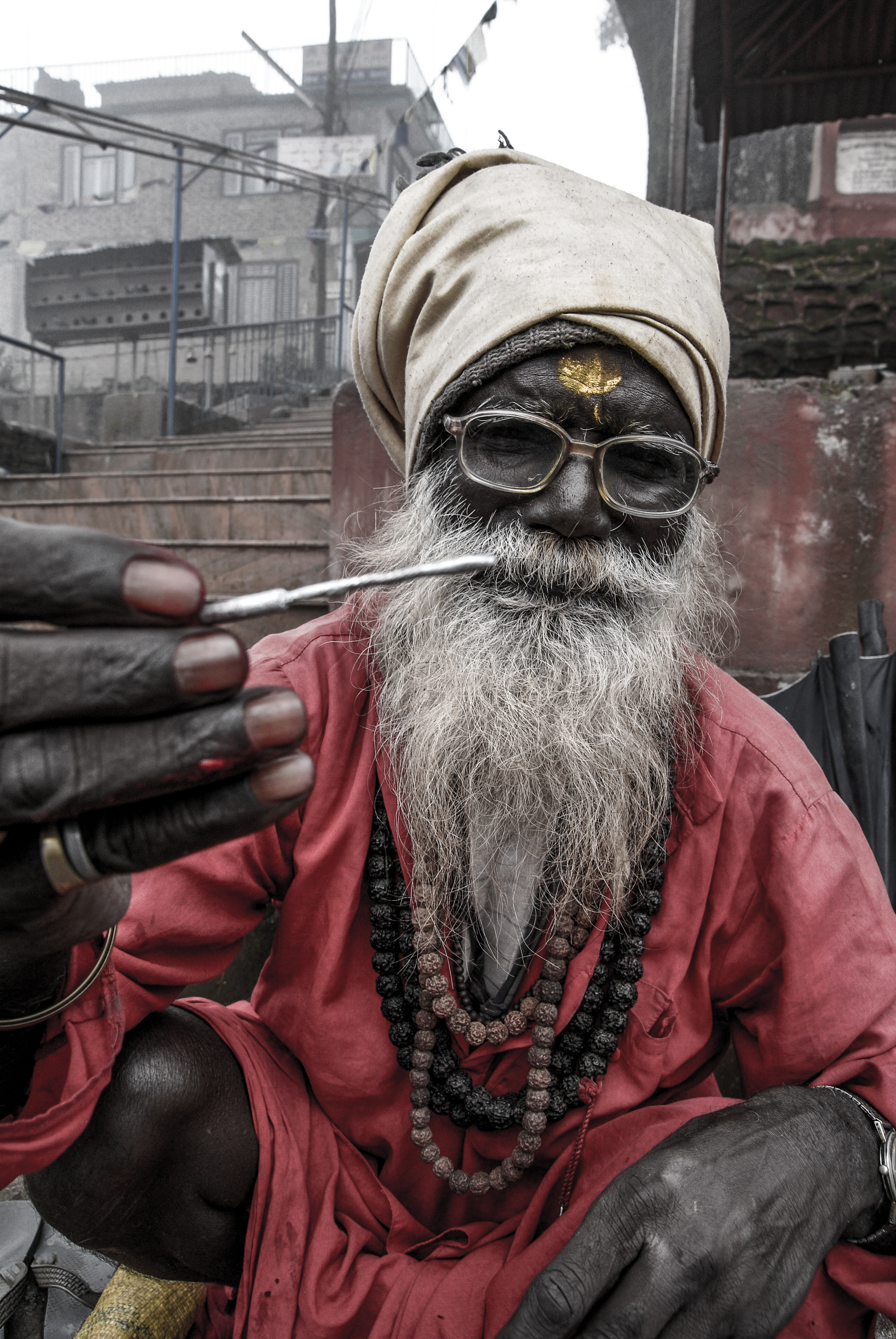 Iconic Sadhu in a Nepalese temple