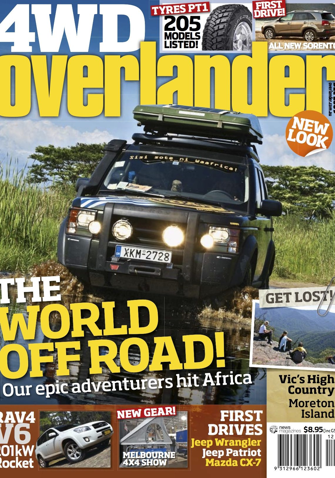 The front page of the Overlander 4WD magazine, December 2009 issue